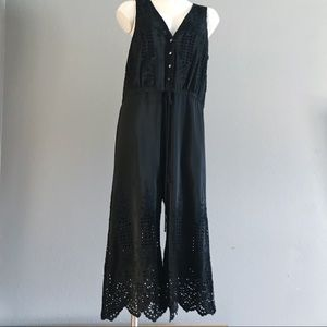 LOVE JOHNNY WAS | EMBROIDERED | EYELET | JUMPSUIT